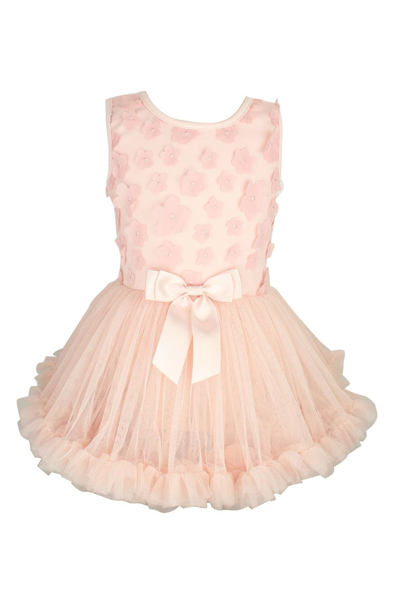 Popatu Flower Appliqu Tutu Dress Baby Girls