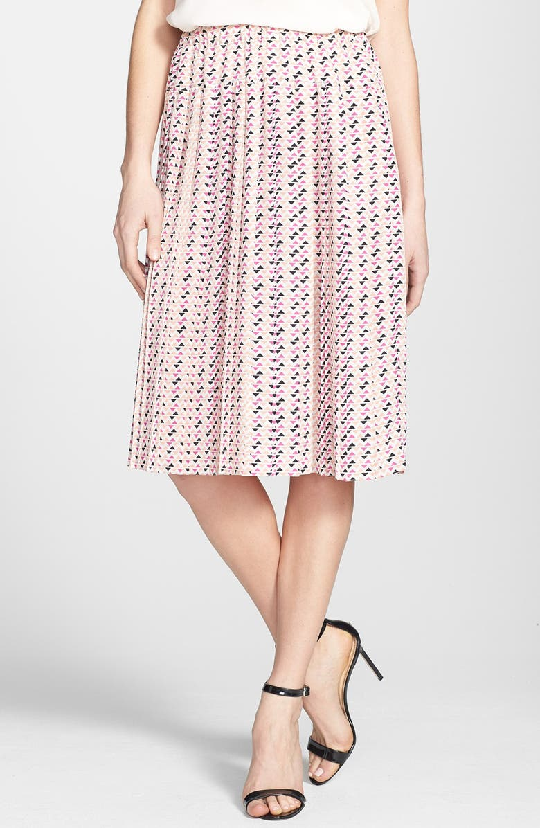 ACE DELIVERY Print Pleated Skirt, Main, color, 650