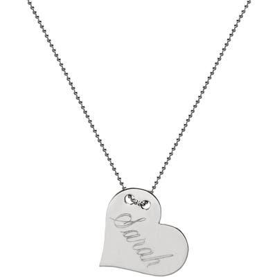 Jane Basch Designs Personalized Heart Pendant Necklace