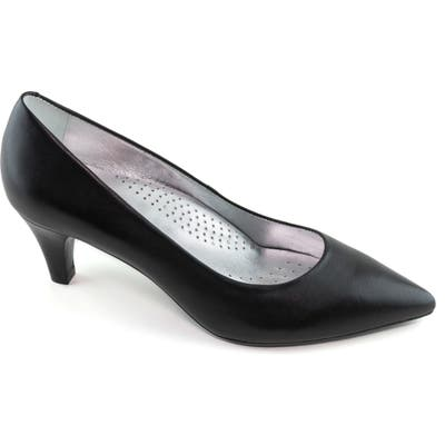 Marc Joseph New York Whitehall Pointed Toe Pump- Black