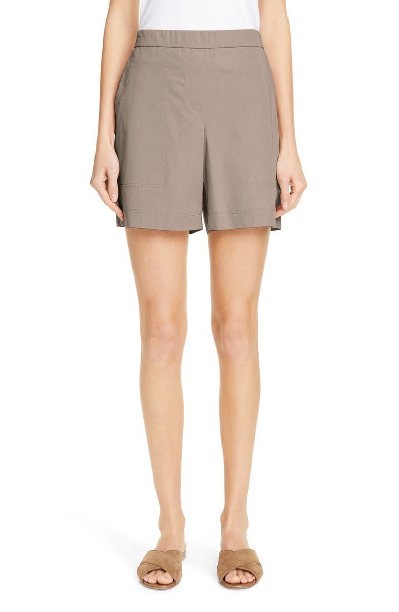 LAFAYETTE 148 NEW YORK Fulton Cotton Shorts, Main, color, 020