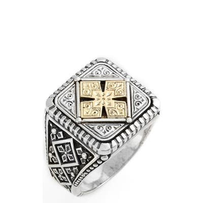 Konstantino Silver & Gold Classics Square Ring