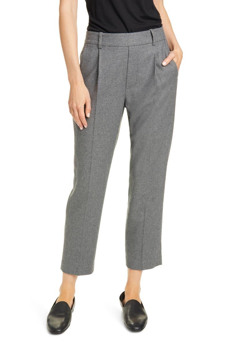 VINCE Tapered Crop Pants, Main, color, MEDIUM HEATHER GREY