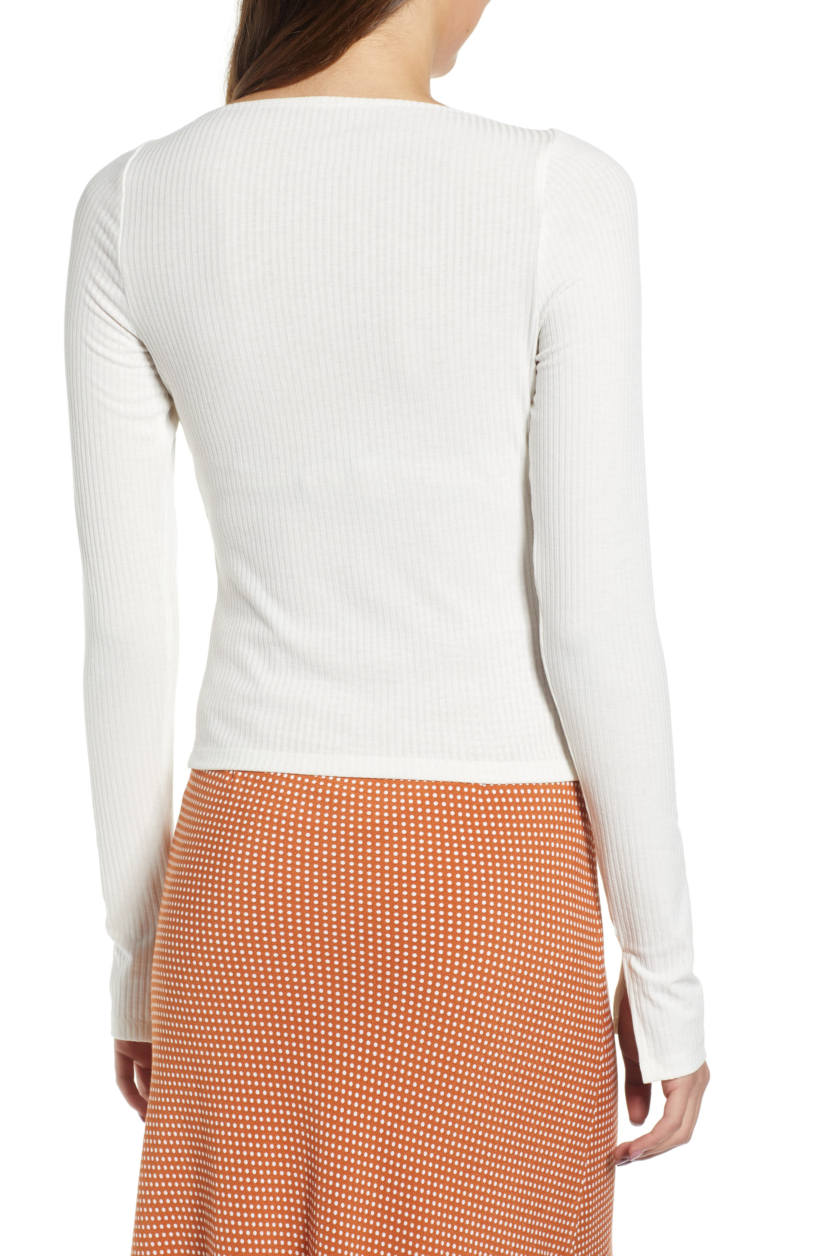 ,                             Square Neck Ribbed Tee,                             Alternate thumbnail 8, color,                             900