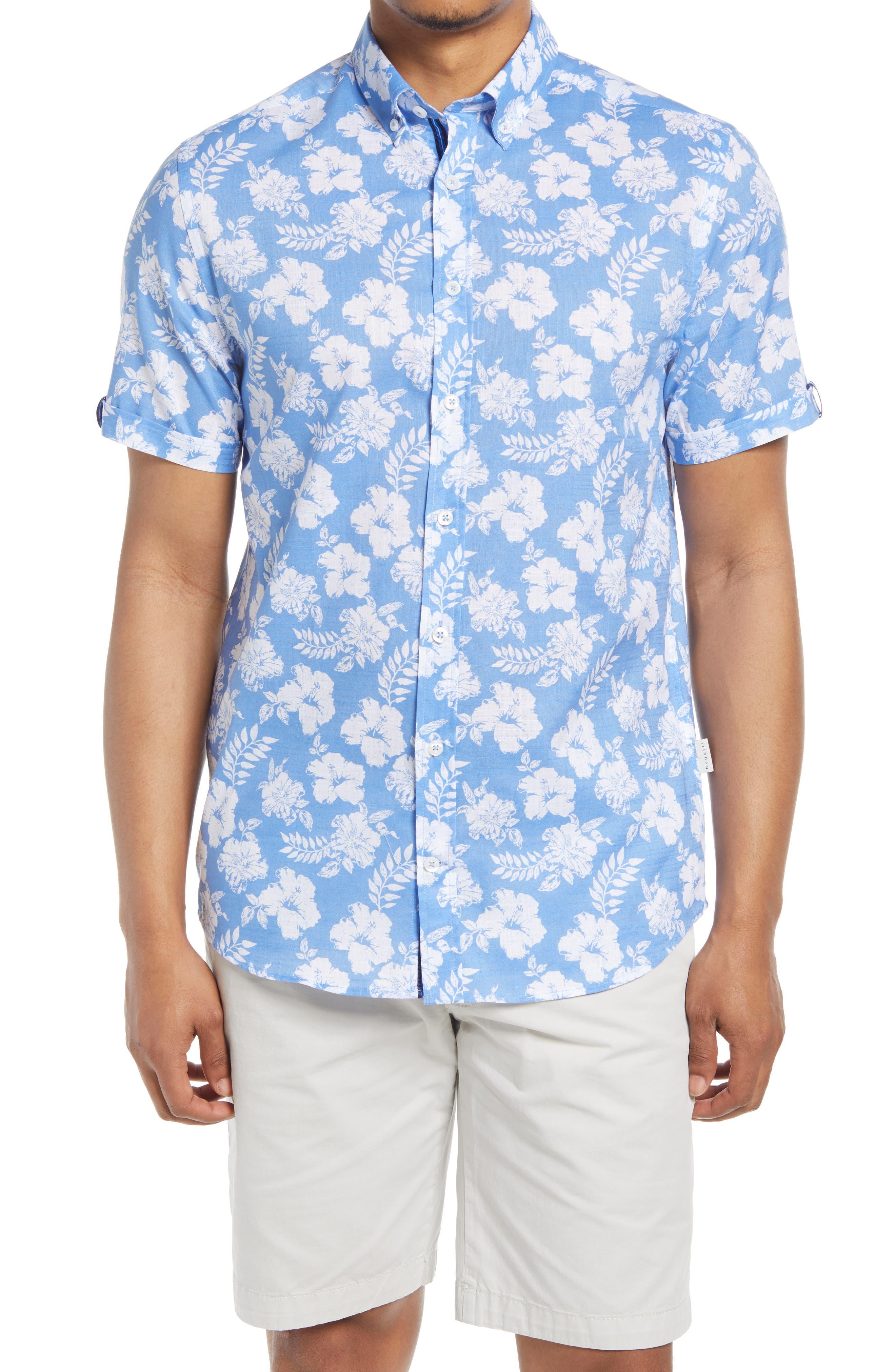 Floral Short Sleeve Button-Down Shirt