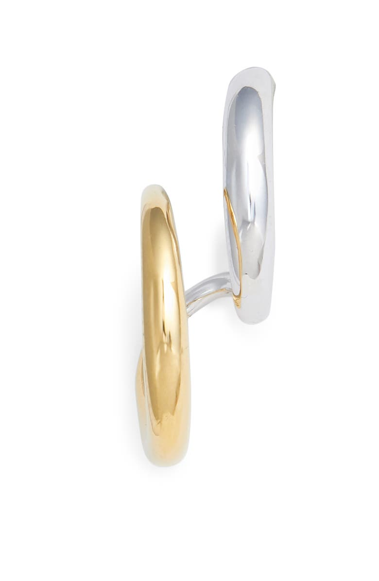 CHARLOTTE CHESNAIS Curl Earring, Main, color, YELLOW/ SILVER