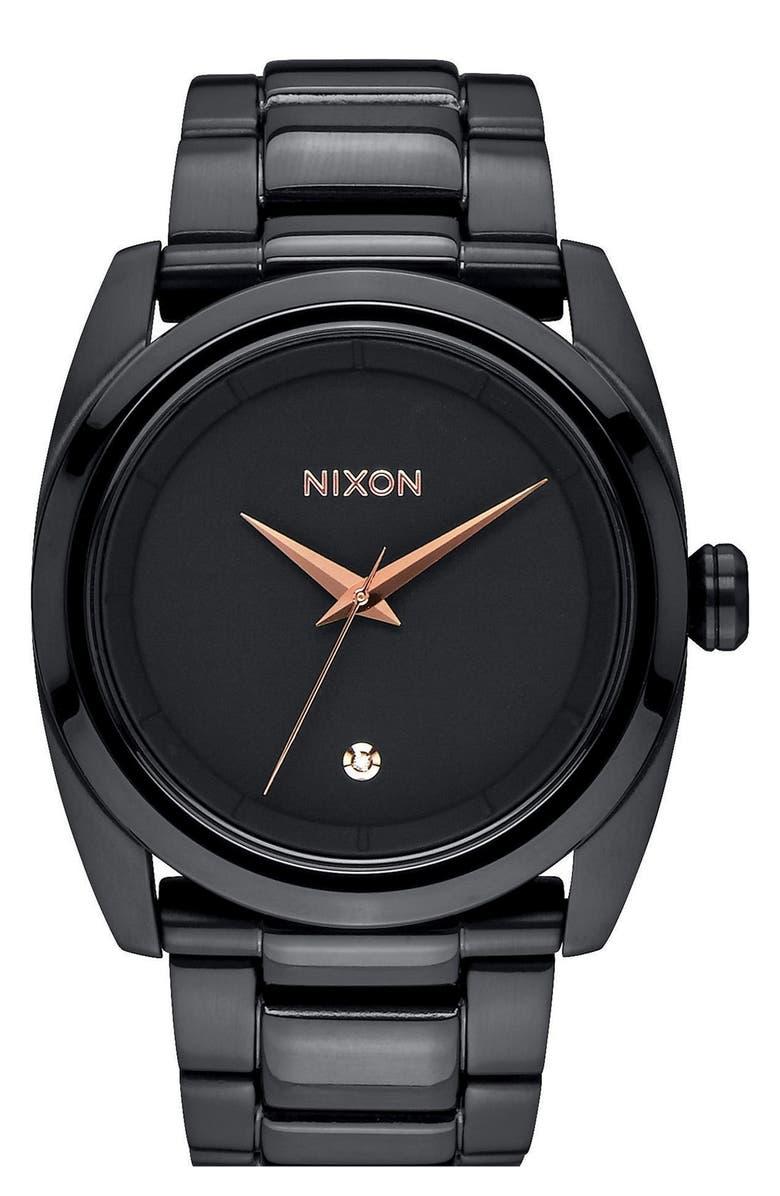 NIXON 'Queenpin' Extra Large Bracelet Watch, 36mm, Main, color, 001