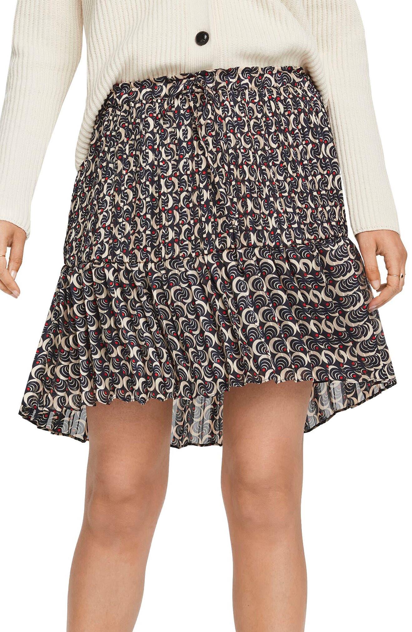 Scotch & Soda Ruffle Hem Pleated Miniskirt | Nordstrom