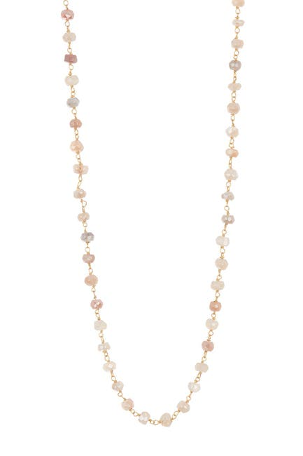 Image of Forever Creations USA Inc. 18K Gold Vermeil Wire Wrapped Multicolor Moonstone Necklace