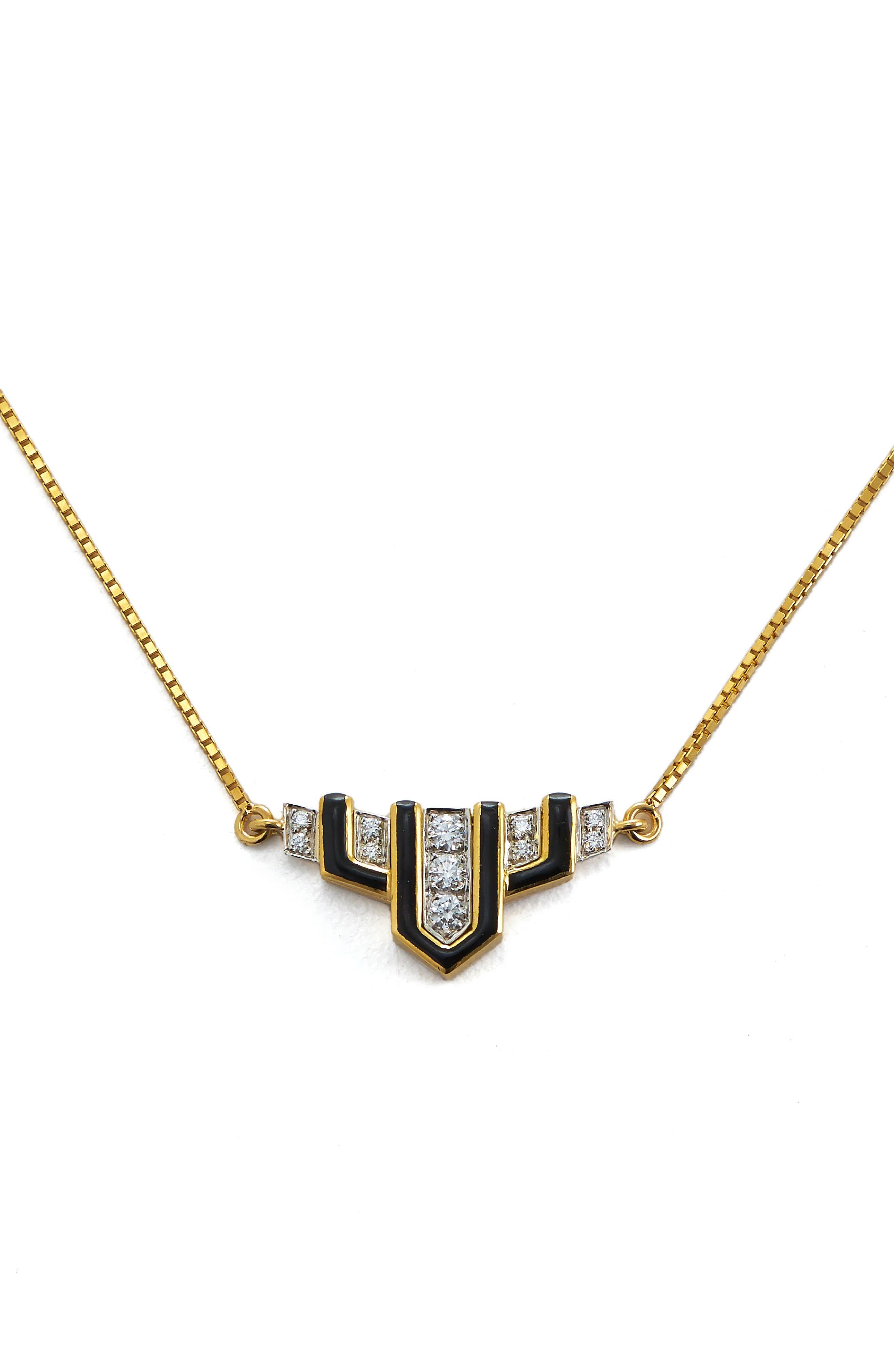 Motif Scape Pendant Necklace