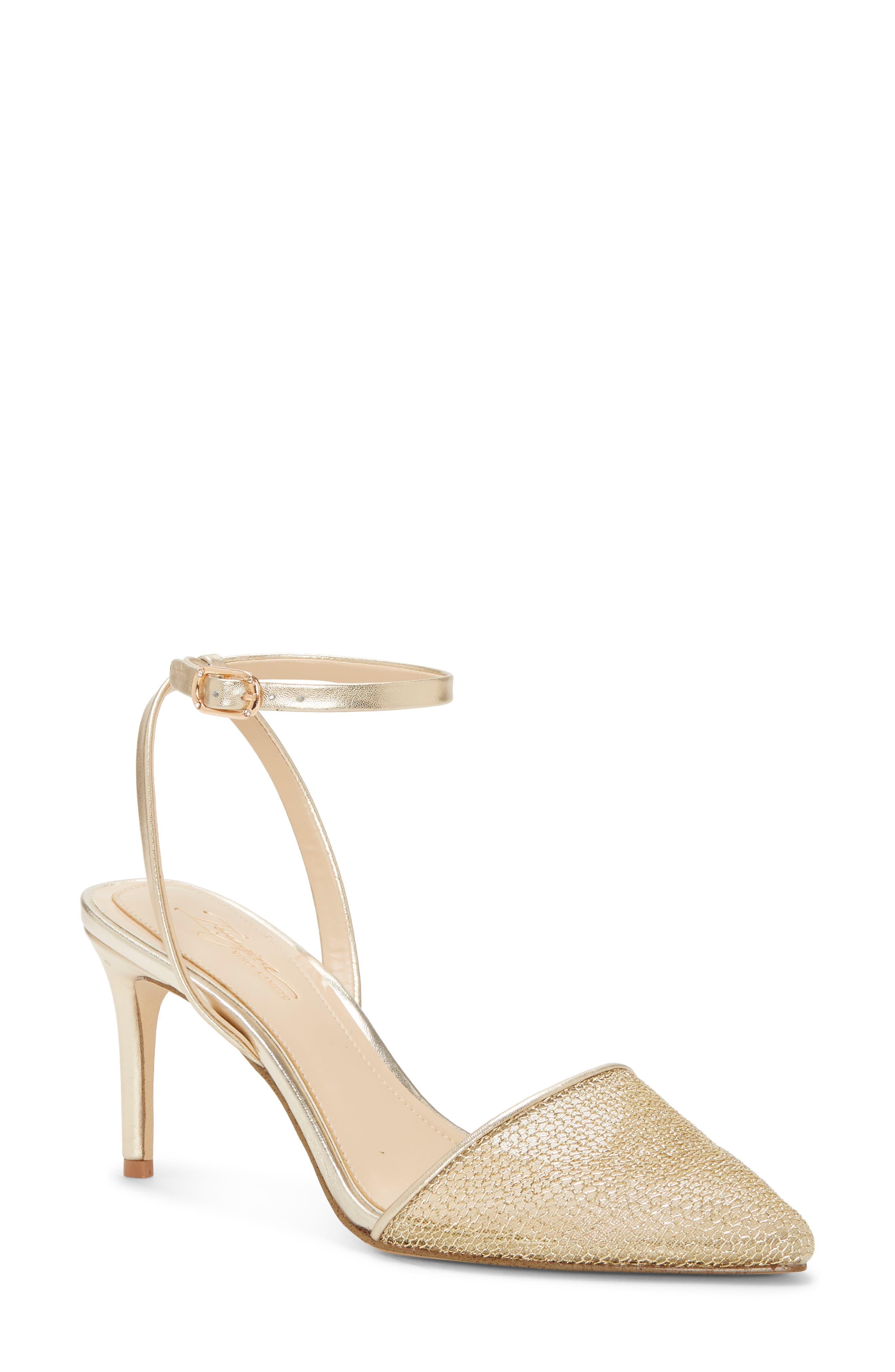 Imagine Vince Camuto Maive Mesh Pointy Toe Pump- Metallic