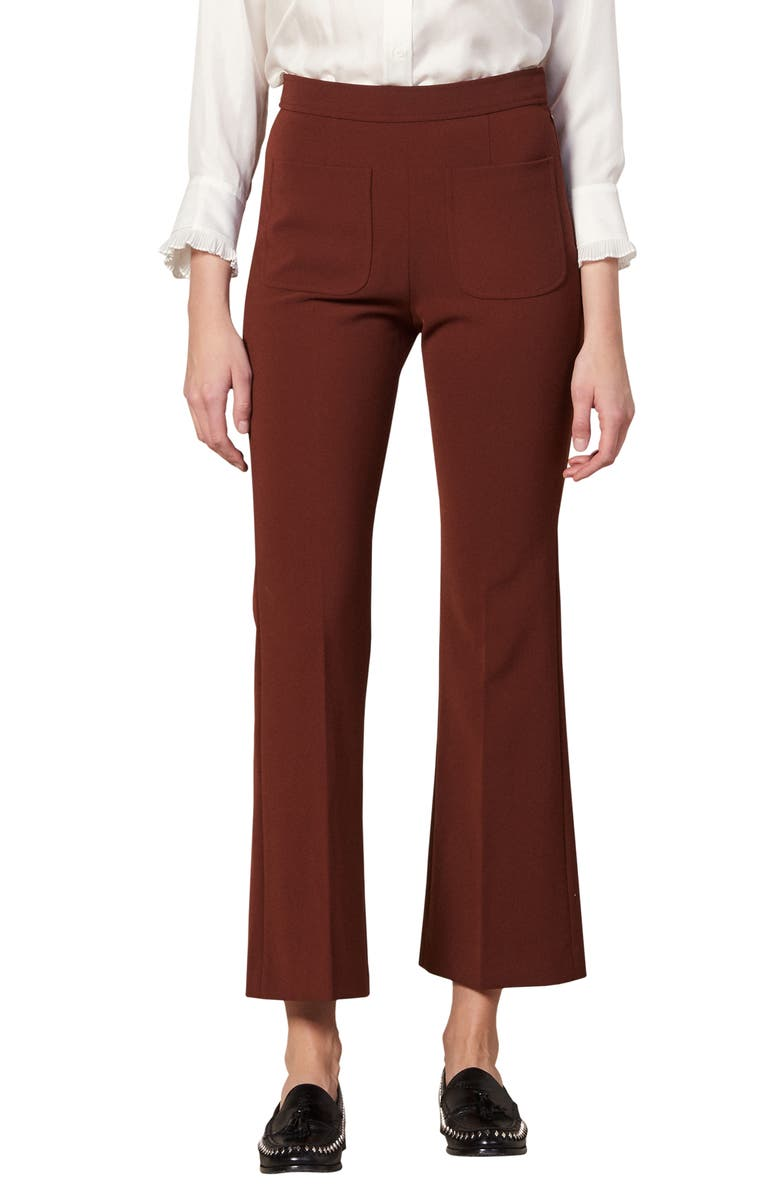 SANDRO Bloone Crop Trousers, Main, color, 200