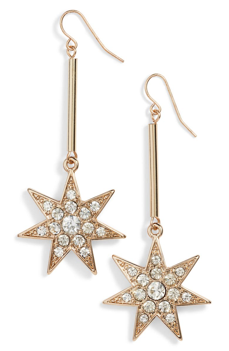 BP. Star Drop Earrings, Main, color, 710