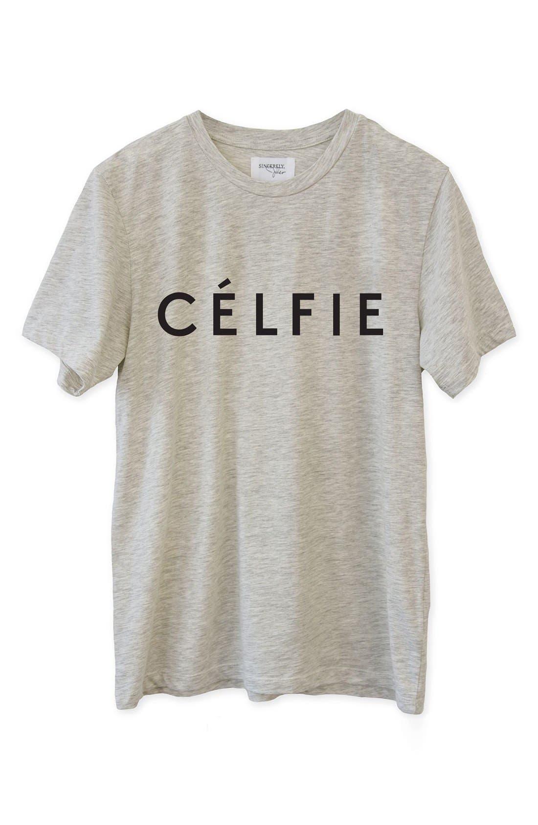 ,                             'Célfie' Graphic Tee,                             Alternate thumbnail 10, color,                             020