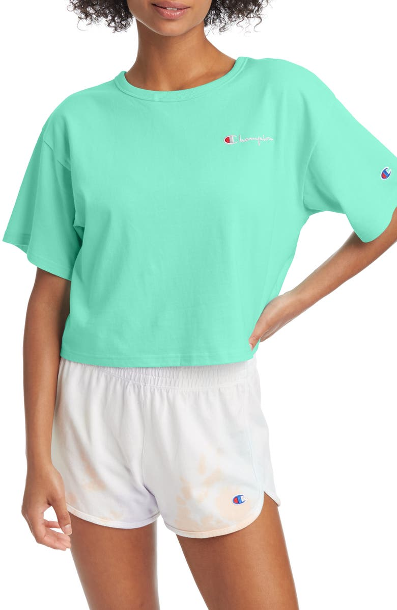 CHAMPION Crop Tee, Main, color, 305