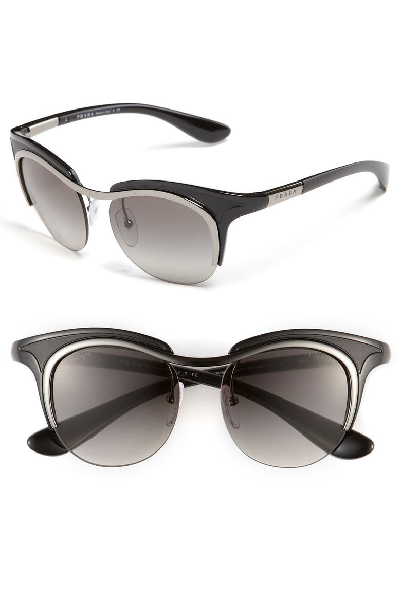 PRADA Retro Sunglasses, Main, color, 001