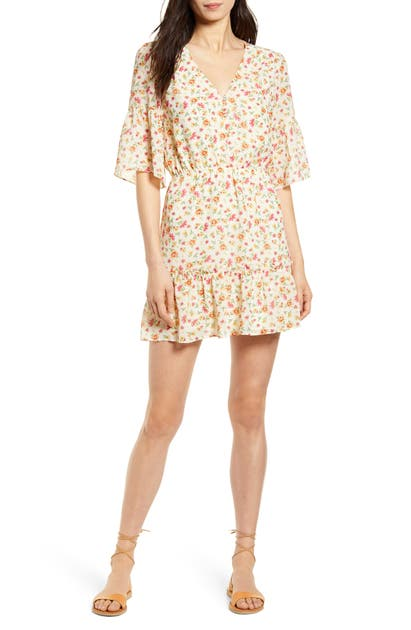 Lost + Wander LOVE IN BLOOM FLORAL MINIDRESS
