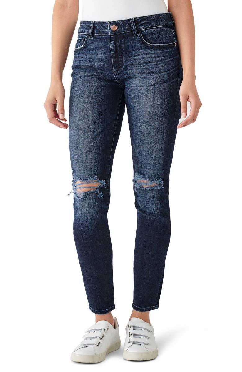 DL1961 Instasculpt Florence Ripped Ankle Skinny Jeans, Main, color, MITCHELL