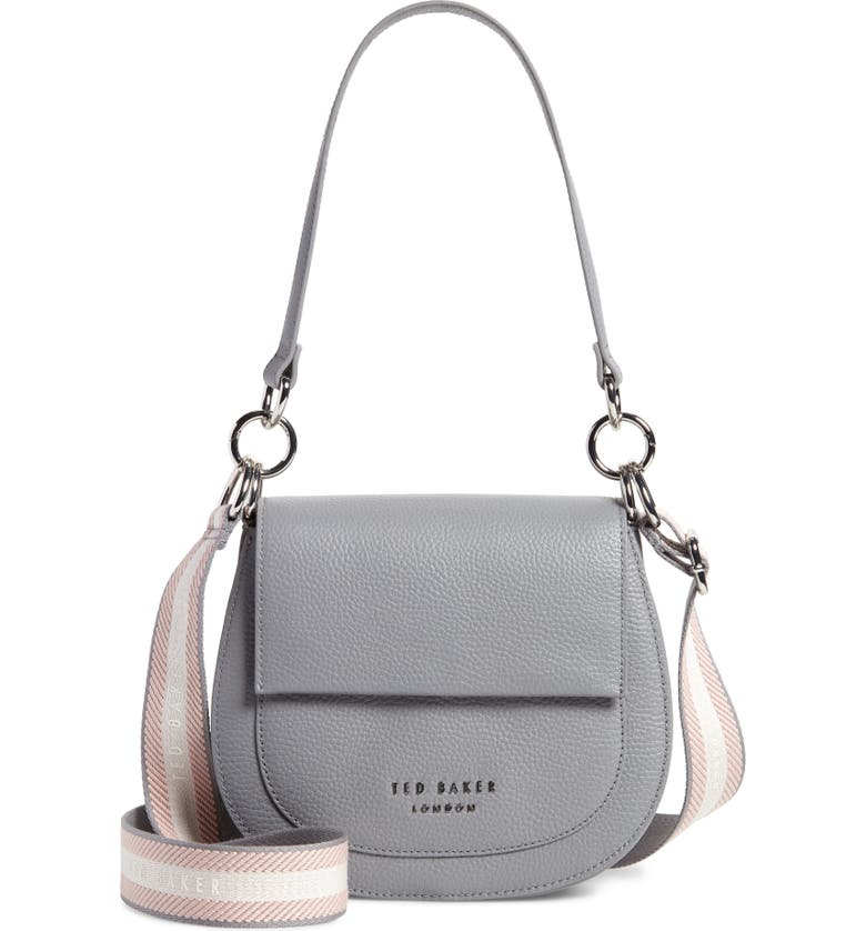 TED BAKER LONDON Amali Leather Crossbody Bag, Main, color, 030