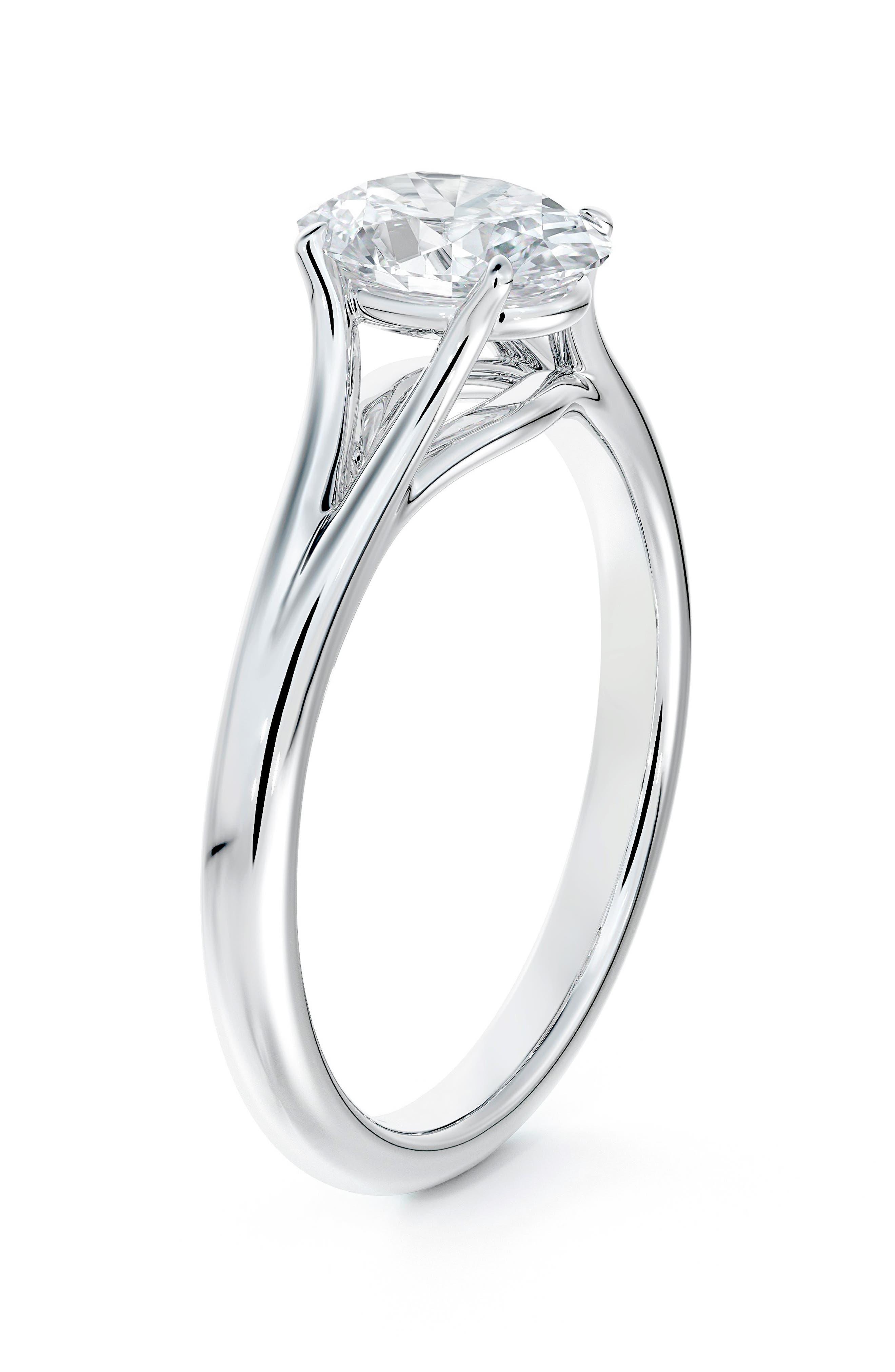 Unity Oval Diamond Engagement Ring