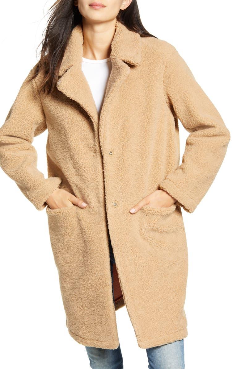 SCOTCH & SODA Teddy Coat, Main, color, 260