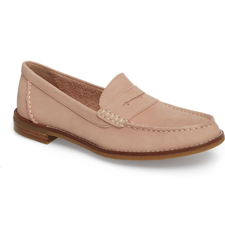 SPERRY Seaport Penny Loafer, Main, color, ROSE DUST LEATHER