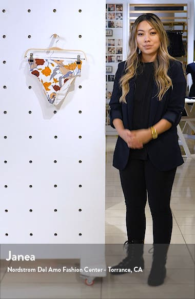 Corinna Floral Print High Waist Bikini Bottoms, sales video thumbnail