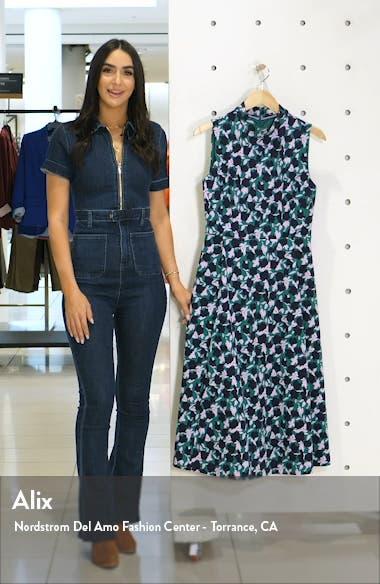 Miriam Floral Sleeveless Ponte Midi Dress, sales video thumbnail