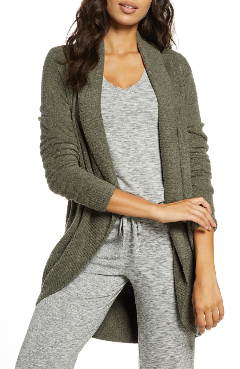 BAREFOOT DREAMS<SUP>®</SUP> CozyChic<sup>™</sup> Lite Circle Cardigan, Main, color, OLIVE