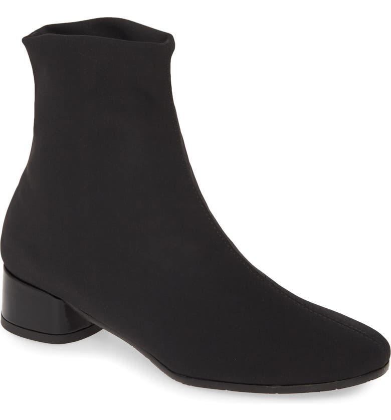 AMALFI BY RANGONI Ronald Stretch Bootie, Main, color, BLACK STRETCH FABRIC