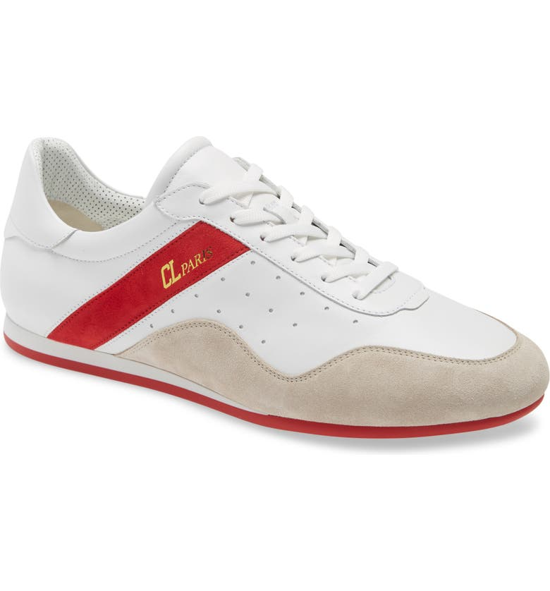 CHRISTIAN LOUBOUTIN My K Low Top Sneaker, Main, color, WHITE