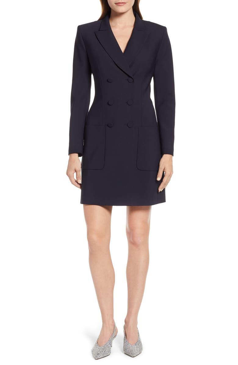 JUDITH & CHARLES Blazer Dress, Main, color, NAVY
