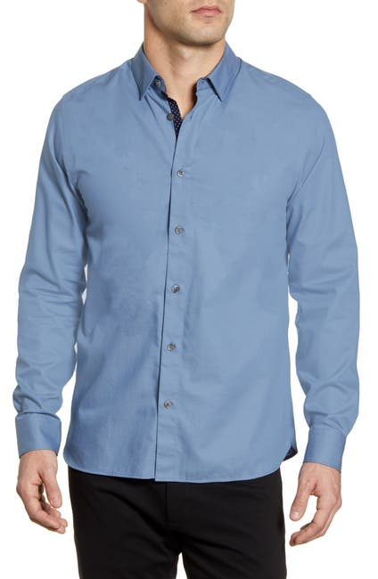 Image of Ted Baker London Whyme Slim Fit Dot Button-Up Shirt