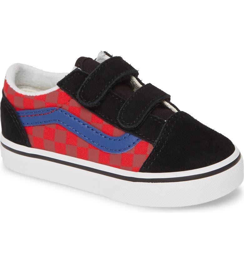 VANS Old Skool V Sneaker, Main, color, CHECKER/ MULTI/ BLACK
