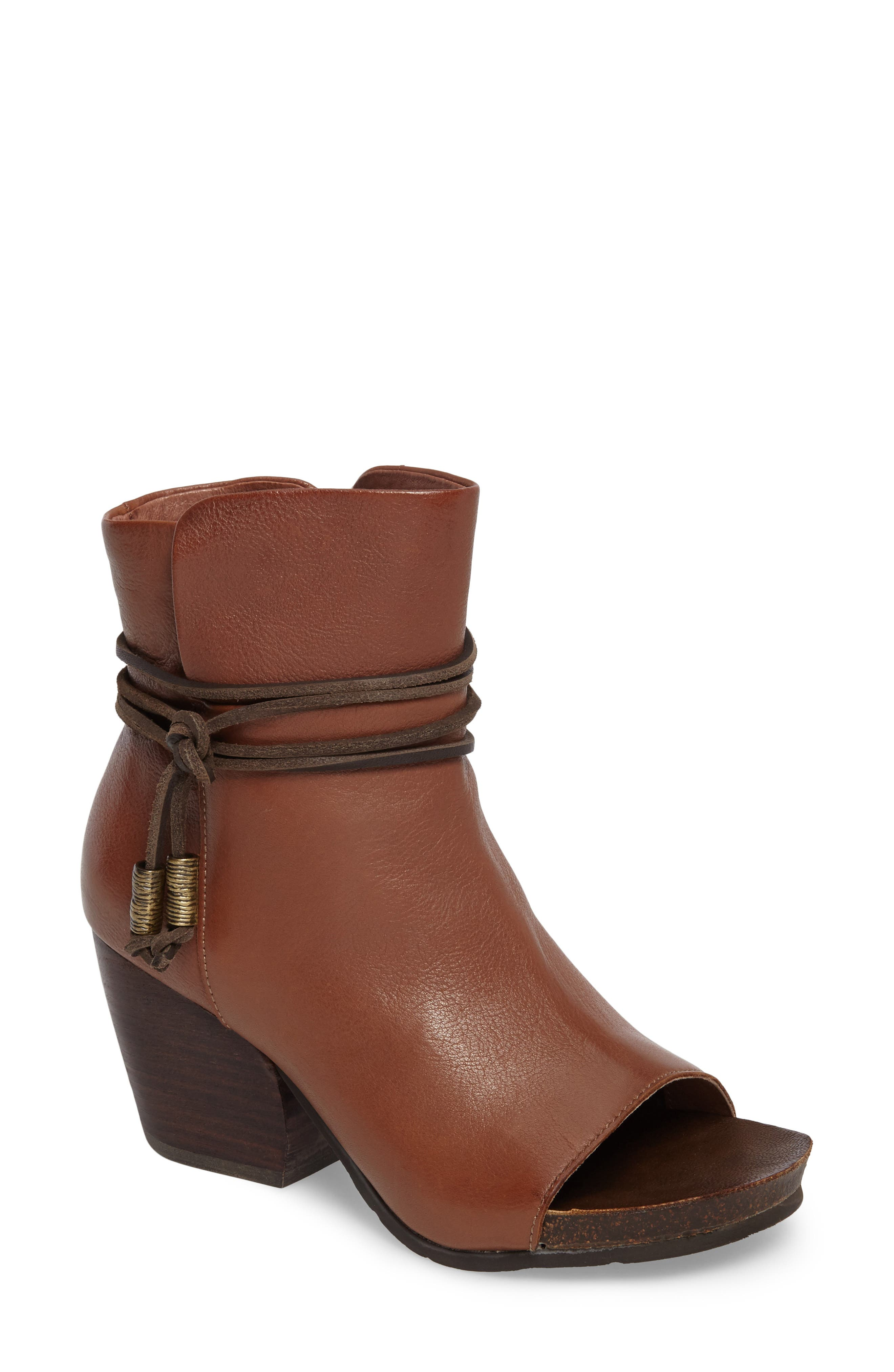 Otbt Open Toe Bootie- Brown