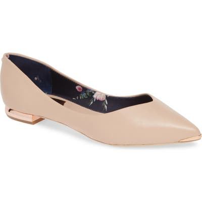 Ted Baker London Grasce Flat, Beige