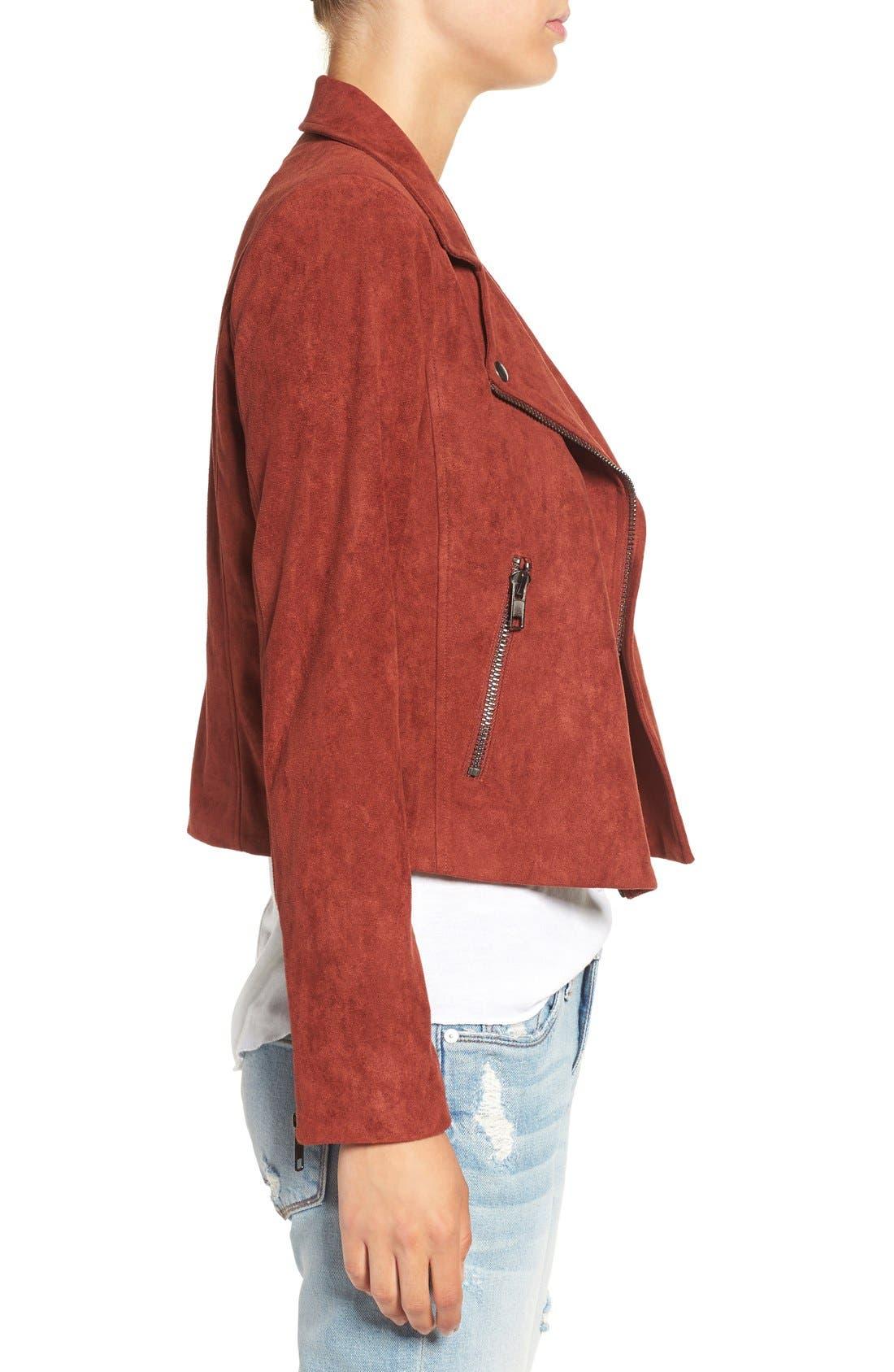 ,                             ASTR Faux Suede Moto Jacket,                             Alternate thumbnail 9, color,                             200