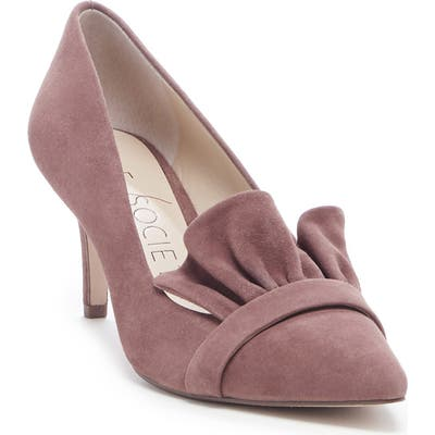 Sole Society Darbia Ruffle Pointy Toe Pump, Brown