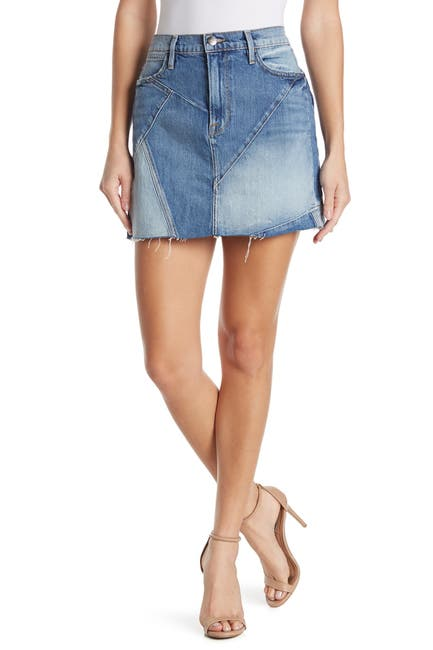 Image of FRAME Mix Denim Mini Skirt