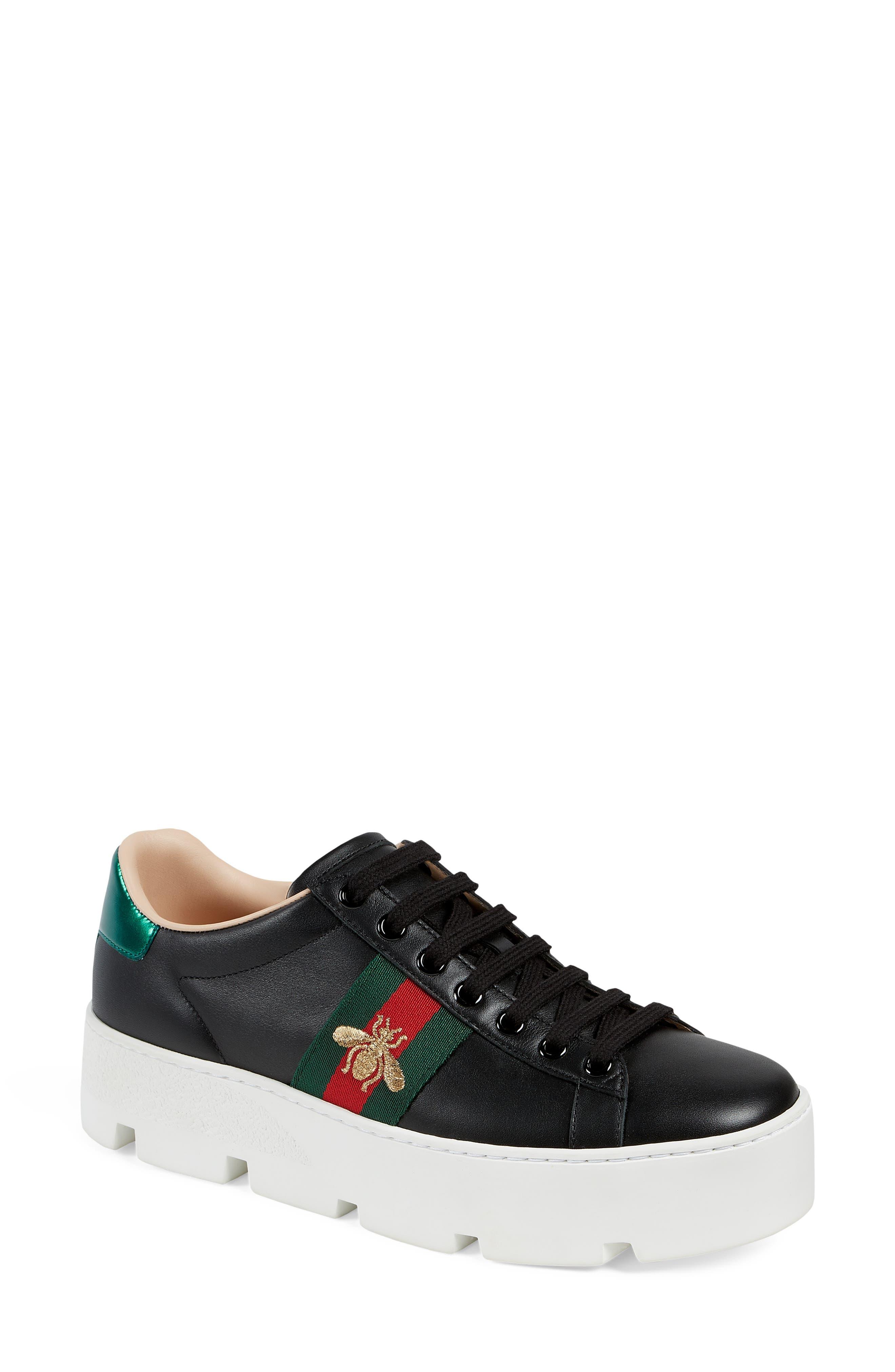 Gucci New Ace Platform Sneaker - Black