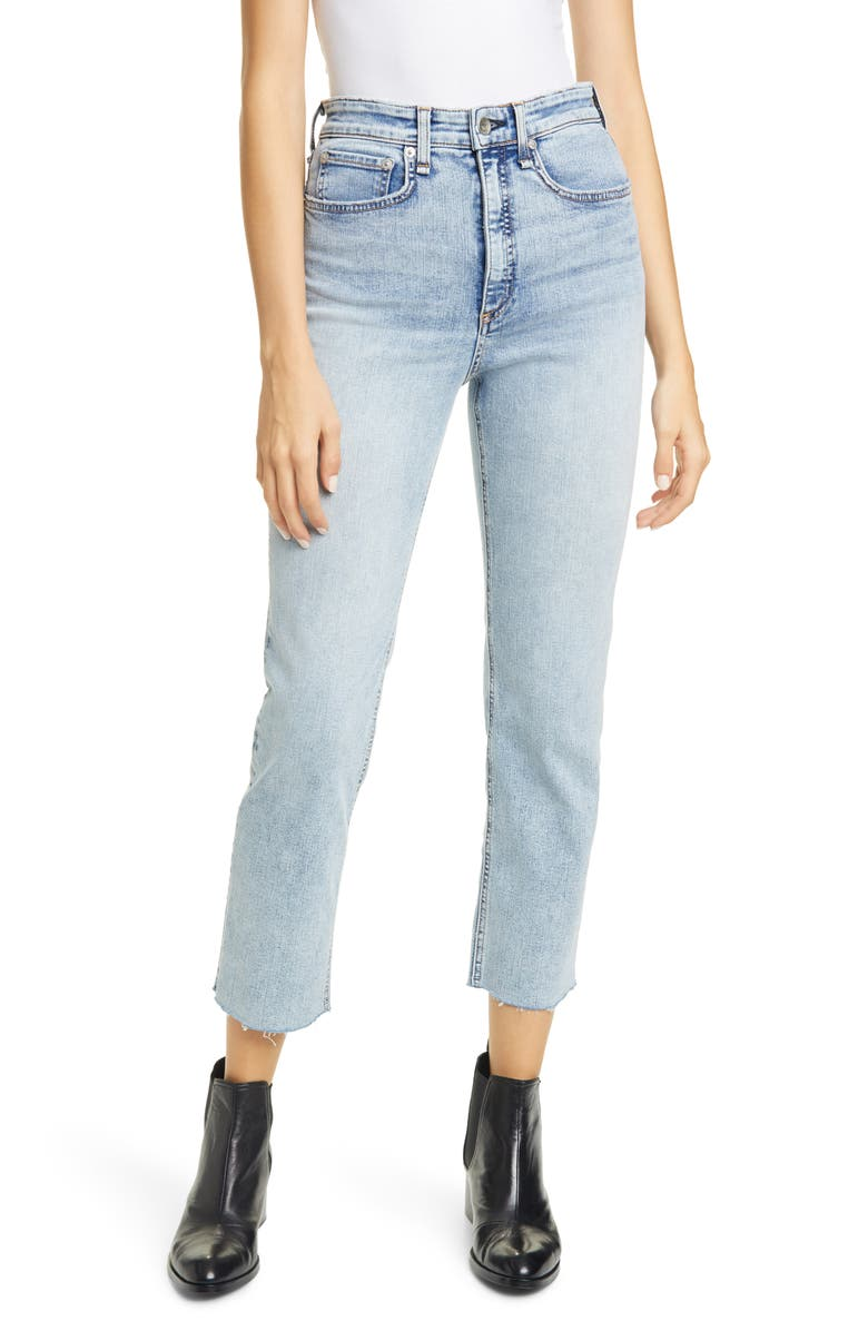 RAG & BONE Jane Super High Waist Ankle Cigarette Jeans, Main, color, DAKOTA