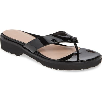 Taryn Rose Collection Taziana Flip Flop- Black
