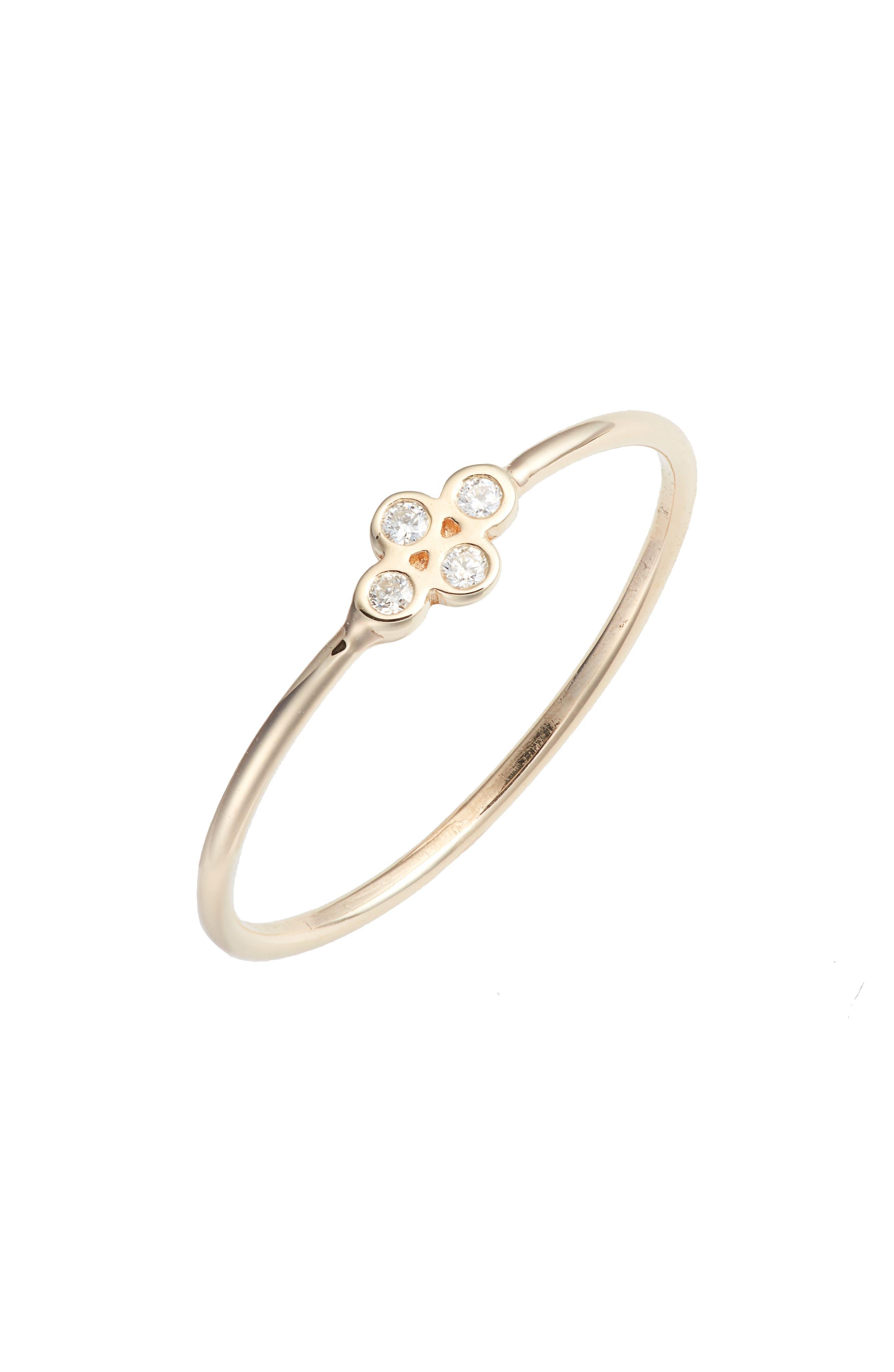 Zoe Chicco Tiny Quad Diamond Ring