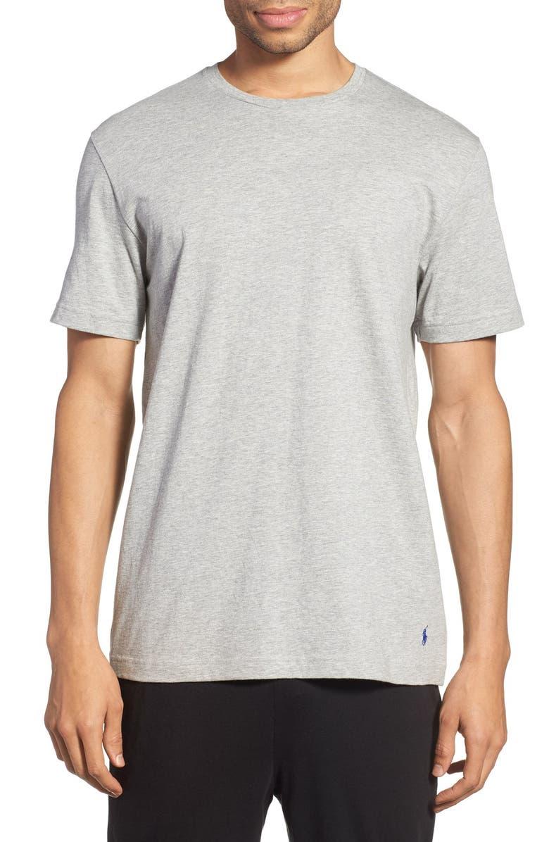 POLO RALPH LAUREN Crewneck T-Shirt, Main, color, ANDOVER HEATHER