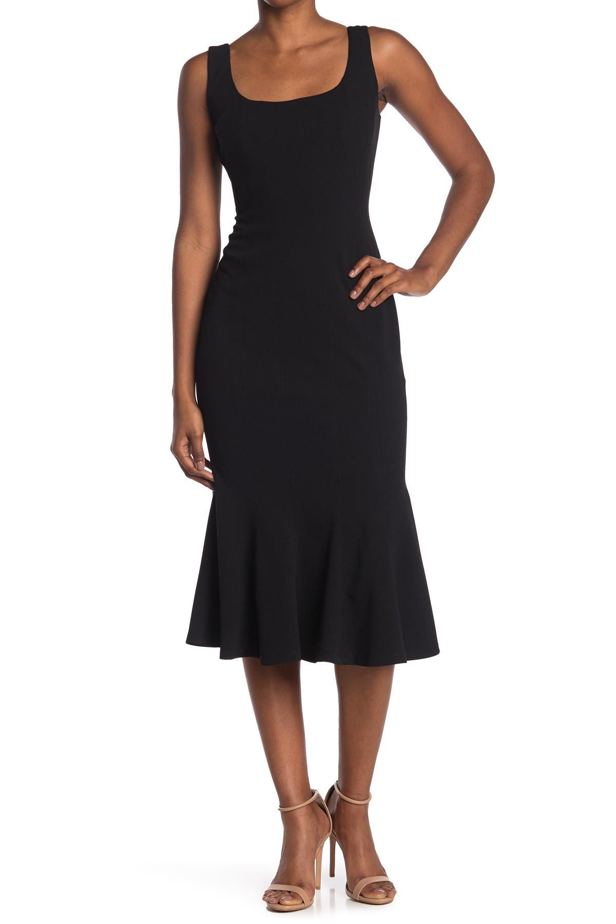 Image of Maggy London Square Neck Mermaid Dress