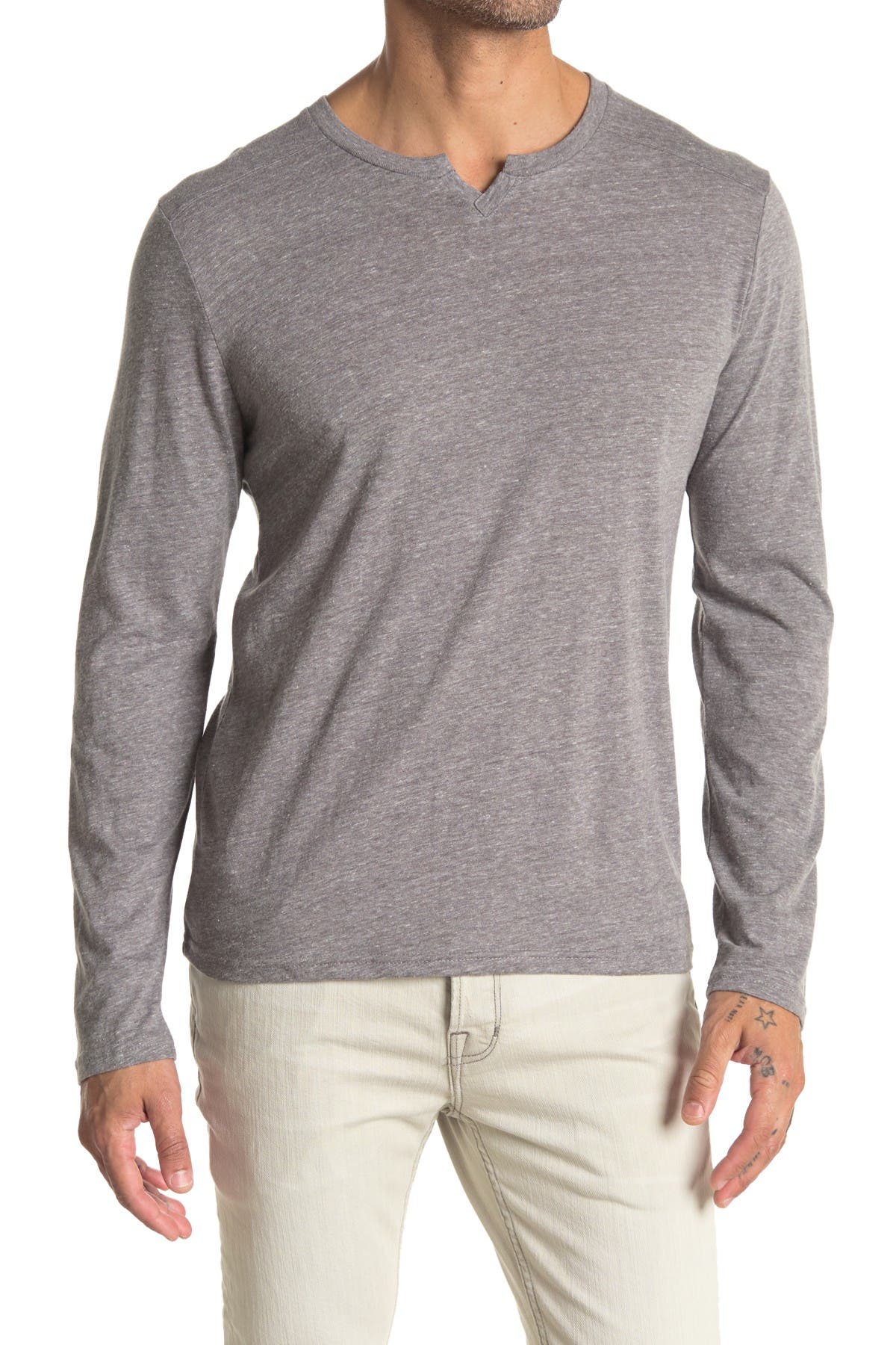 Image of Threads 4 Thought Notch Neck Long Sleeve Knit