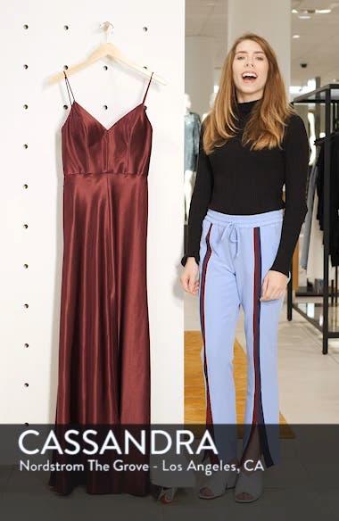 Dina V-Neck Satin Crepe Gown, sales video thumbnail