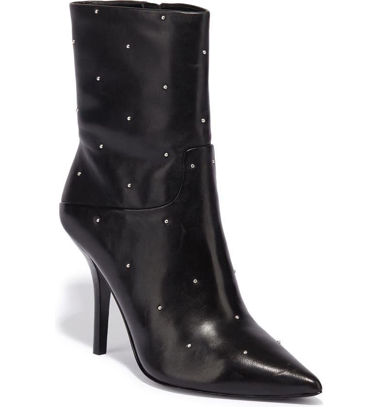 ALLSAINTS Jenna Studded Bootie, Main, color, BLACK LEATHER