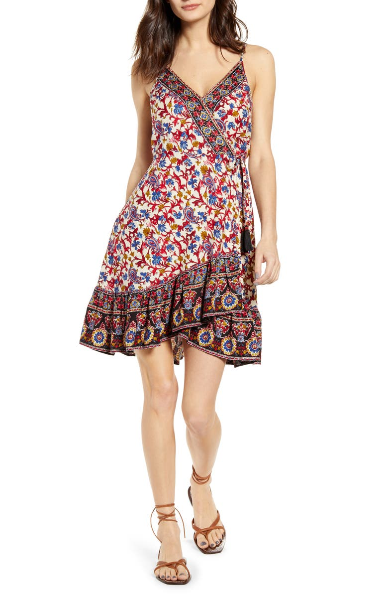 BAND OF GYPSIES Joplin Mixed Print Minidress, Main, color, 250