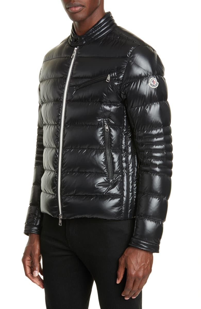 MONCLER Berriat Down Jacket, Main, color, BLACK